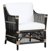 Artwood Columbus loungestol - black - inkl. hynder