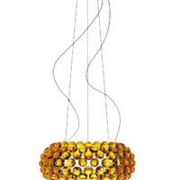 Caboche Medium Pendel Gul Guld 10m - Foscarini