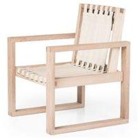 Collect Furniture stol - Frame Chair - Big - Ubehandlet eg/hvid