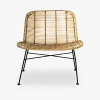Dom Chair, Nature w/Black