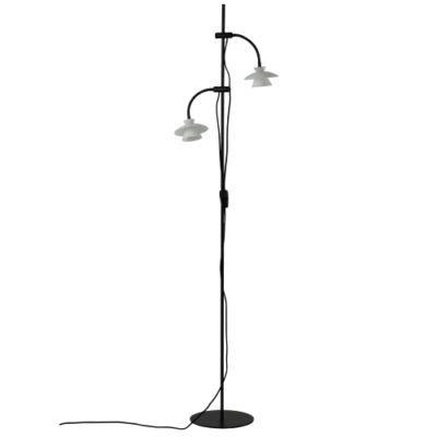 DybergLarsen gulvlampe - Valby - Opalglas