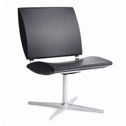 Erik Bagger loungestol - City Chair One - Krom/sort