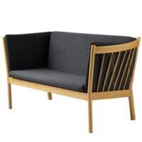 Erik Ole Jørgensen 2 pers. sofa - J148 - Eg/mørkegrå