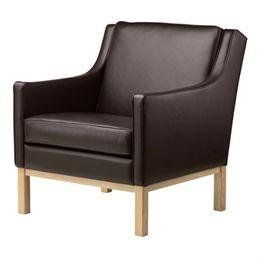 Erik Wørts lænestol - L603 - Eg/mørkebrunt læder
