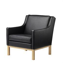 Erik Wørts lænestol - L603 - Eg/sort læder