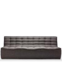 Ethnicraft N701 sofa - 3 seater - Dark Grey