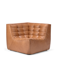 Ethnicraft N701 sofa - Corner - Old Saddle