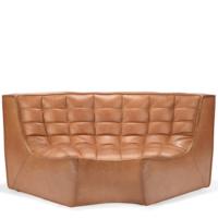Ethnicraft N701 sofa - Round Corner - Old Saddle