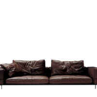 Flexform Lifesteel Sofa - Mørkebrun Læder