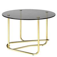 Gubi Matégo Side Table - Smoked Glass