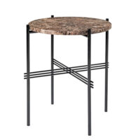 Gubi TS Side Table - Brun Marmor - Ø40 cm.