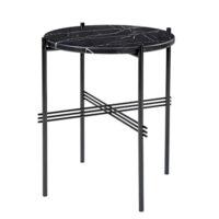 Gubi TS Side Table - Sort Marmor - Ø40 cm.