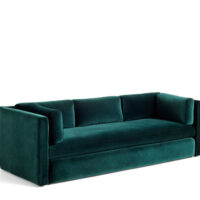 HAY Hackney 3 seater sofa - Dark Green Lola Velour