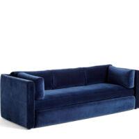 HAY Hackney 3 seater sofa - Navy Lola Velour