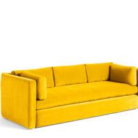 HAY Hackney 3 seater sofa - Yellow Lola Velour
