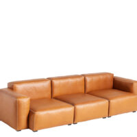 HAY Mags Soft Sofa - Low Arm - 3P. - Silk Læder