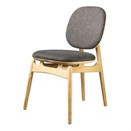 Hans-Christian Bauer stol - J161 PoSpiSto - Eg/gråt tekstil