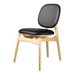 Hans-Christian Bauer stol - J161 PoSpiSto - Eg/sort læder