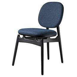 Hans-Christian Bauer stol - J161 PoSpiSto - Sort eg/mørkeblåt tekstil