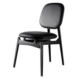 Hans-Christian Bauer stol - J161 PoSpiSto - Sort eg/sort læder
