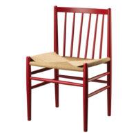 Jørgen Bækmark stol - J80 - Ruby Red/natur