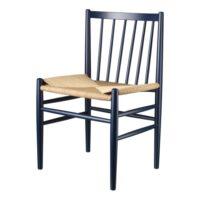 Jørgen Bækmark stol - J80 - Steel Blue/natur