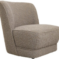 Jakobsdals Royal loungestol - gråbrun boucle
