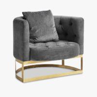 LOUNGE chair, grey