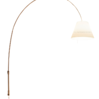 Lady Costanza Væglampe m/Afbryder Hvid /Alu - Luceplan