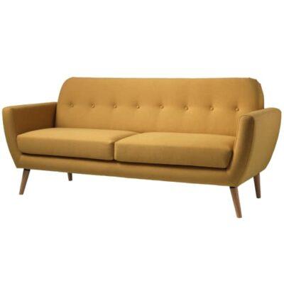 Living&more 3 pers. sofa - Alma - Mustard