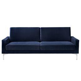 Living&more 3 pers. sofa - Viktoria - Mørkeblå
