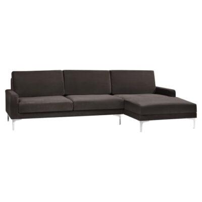 Living&more 3 pers. sofa med chaiselong - Viktoria - Brun
