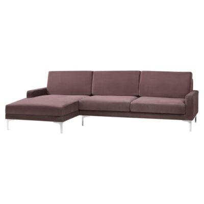 Living&more 3 pers. sofa med chaiselong - Viktoria - Peach