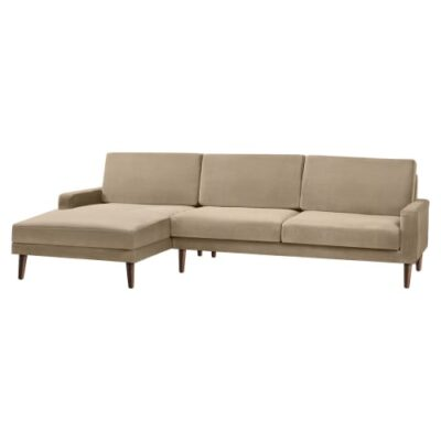 Living&more 3 pers. sofa med chaiselong - Viktoria - Sand