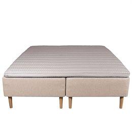 Living&more boxmadras - De Lux Classic - 180 x 200 cm - Sand