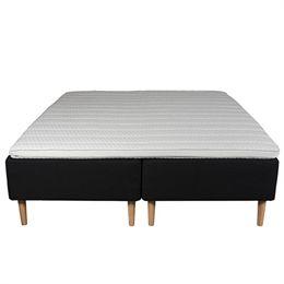 Living&more boxmadras - De Lux Classic - 180 x 200 cm - Sort