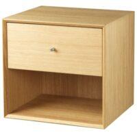 Living&more reol med skuffe - The Box - 37 x 39,4 x 34 cm - Eg