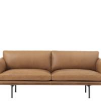 Muuto - Outline Sofa - 2-pers. - Cognac Refine Læder