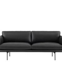 Muuto - Outline Sofa - 2-pers. - Sort Refine Læder