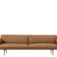 Muuto Outline Sofa - 3-pers. - Cognac Refine Læder