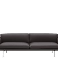 Muuto - Outline Sofa - 3-pers. - Root Easy Læder - Alu.