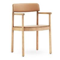 Normann Copenhagen Timb armchair Tan med Camel læder
