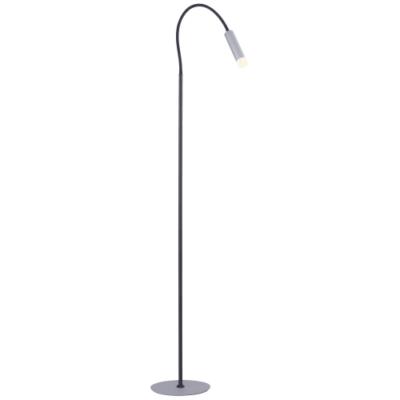 Paul Neuhaus gulvlampe - Pure-gemin - Sort/aluminium