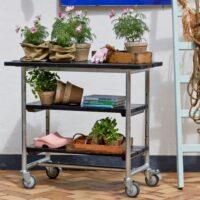 Plus rullebord med 2 hylder - Urban Picnic - Sort