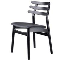 Poul M. Volther stol - J48 - Sort/sort læder