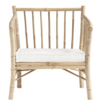 Tine K Home Bambus New loungestol - hvid hynde
