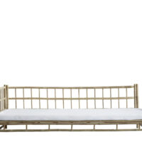 Tine K Home Bambus lounge solseng - højre - hvid hynde