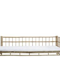 Tine K Home Bambus lounge solseng - venstre - hvid hynde