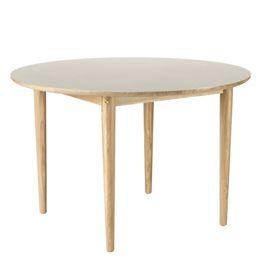 Unit10 spisebord - Bjørk - Eg/lysegrå linoleum