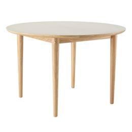 Unit10 spisebord med udtræk - C62 Bjørk - Eg/grå